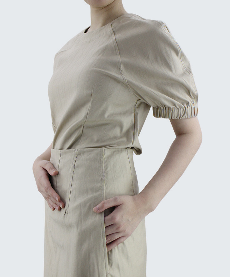 Blouse Minimal Me Twill Rubber Hand