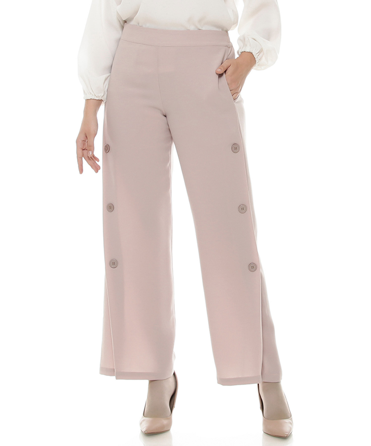Long Pants Minimal Me With Button Side
