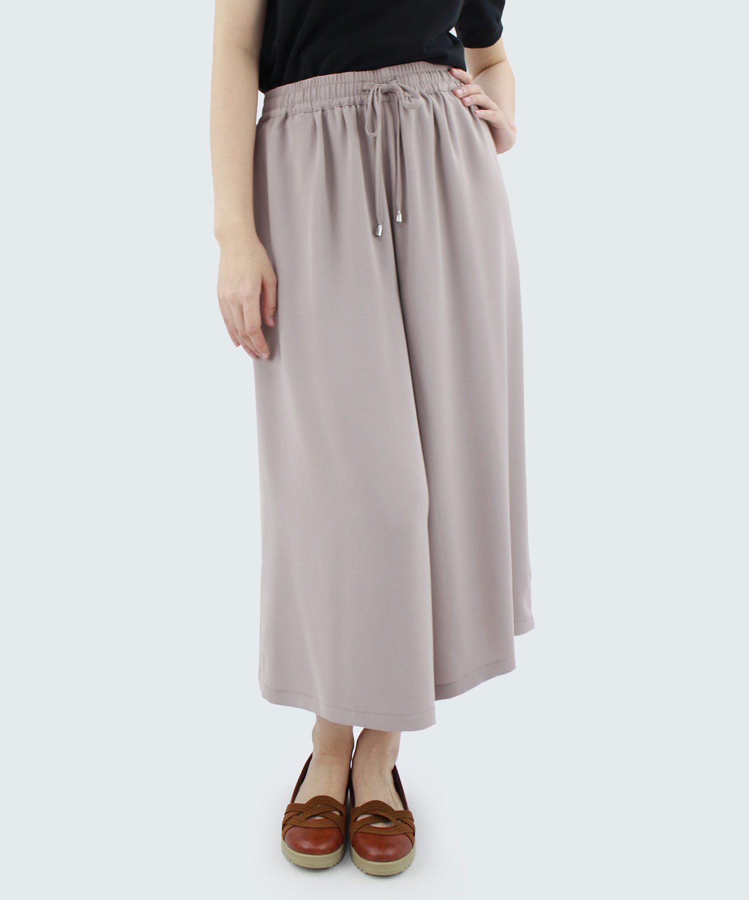 Long Pants Minimal Woman Polyester With Elastic